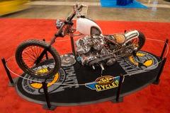 Harley-Davidson modificado para requisitos particulares FLH Fotografía de archivo libre de regalías