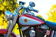 Harley Davidson, motocicleta americana icónica, vehículo de motor, hermoso diseño Imágenes de archivo libres de regalías
