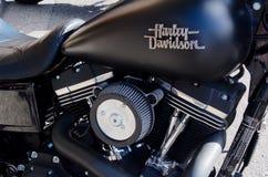 Harley Davidson Motocycle σε νέο Westminister Στοκ εικόνα με δικαίωμα ελεύθερης χρήσης