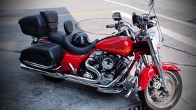 Harley Davidson Motocycle in New Westminister royalty free stock images