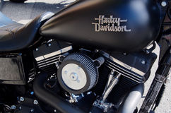 Harley Davidson Motocycle in New Westminister Royalty Free Stock Image