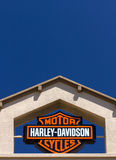 Harley-Davidson Motor Cycle Sign Arkivfoton