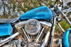 Harley Davidson motor och gasbehållare Fotografering för Bildbyråer
