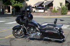 Harley Davidson motorbike Arkivbild