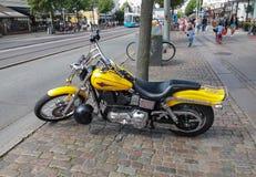 Harley Davidson motorbike Royaltyfria Foton