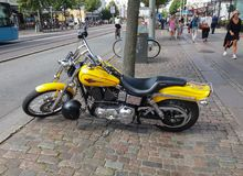 Harley Davidson motorbike Stock Photo