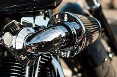 Harley Davidson motorbke closeup stock photography