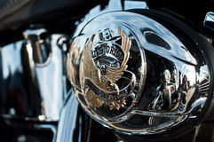 Harley Davidson motorbke closeup Royalty Free Stock Photos