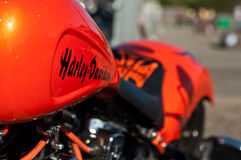 Harley Davidson motorbke closeup Stock Photography