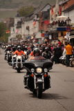 Harley Davidson Motorcade Royalty Free Stock Photo