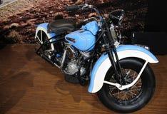 Harley Davidson motorcycleï ¼ AutoChina 2012 stock afbeelding