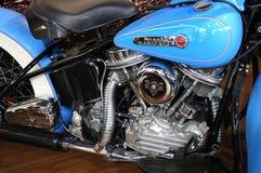 Harley Davidson motorcycleï ¼ AutoChina 2012 stock foto's