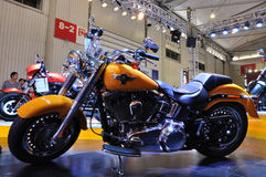 Harley Davidson motorcycle. Is displayed on the 15th Chengdu Motor Show, September 1th-9th,2012 royalty free stock photo