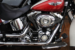 Harley Davidson motorcycleï¼ Auto Kina 2012 Royaltyfri Fotografi
