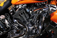 Harley Davidson Motorcycle Engine Stock Photography