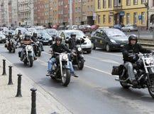 Harley Davidson motorcycle riders Stock Photos
