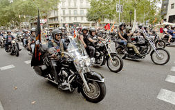 Harley-Davidson Motorcycles Royaltyfria Foton