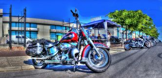 Harley Davidson motorcycles Royalty Free Stock Photos