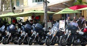 Harley Davidson Motorcycles Miami Beach almacen de metraje de vídeo