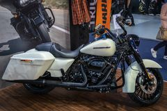 Harley Davidson motorcycles on 54th Belgrade international car and motor show stock photography