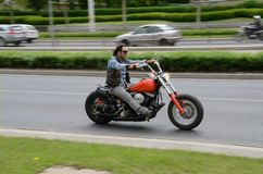 Harley-Davidson motorcyclist Stock Image