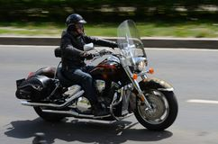 Harley-Davidson motorcyclist Stock Photos