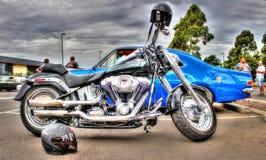 Harley Davidson motorcykel Royaltyfria Bilder