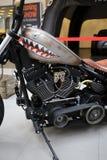 Harley Davidson motorcykel som visas på den 3rd upplagan av MOTO-SHOWEN i Krakow poland Royaltyfria Foton