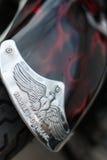 Harley-Davidson-motorfietsdetail Stock Foto's
