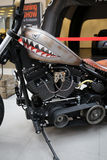 Harley Davidson-Motorrad angezeigt an der 3. Ausgabe von MOTO-ZEIGUNG in Krakau polen Lizenzfreie Stockfotos