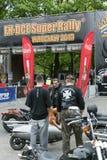 Harley Davidson-Motorradreiter Lizenzfreie Stockbilder
