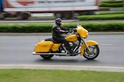 Harley-Davidson-motorrijder Stock Afbeeldingen