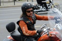 Harley-Davidson-motorrijder Royalty-vrije Stock Foto's