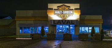 Harley Davidson at night Stock Photo