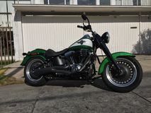 Harley Davidson Pahtboy Low Motorcycle Royalty-vrije Stock Afbeelding