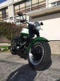 Harley Davidson Pahtboy Low Motorcycle Stockbild