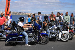 Harley-Davidson Parade. European Harley Owners Group 2012. Cascais - Portugal www.hogeuropegallery.com/portugal-2012 Stock Image
