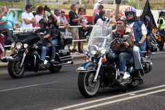 Harley Davidson parade Royalty Free Stock Images