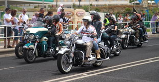 Harley Davidson parade Royalty Free Stock Image