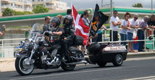 Harley Davidson parade Royalty Free Stock Photography