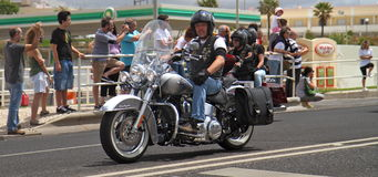 Harley Davidson parade Stock Photo