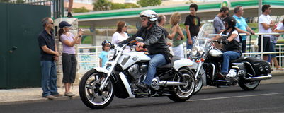 Harley Davidson parade Royalty Free Stock Photo