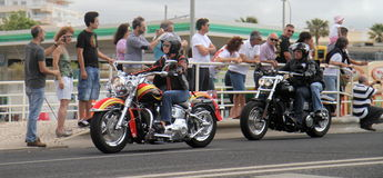 Harley Davidson parade Stock Images