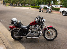A harley davidson parked on main street, paducah stock images