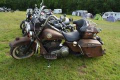 Harley Davidson pintado aduana Imagenes de archivo