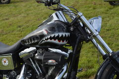 Harley Davidson pintado aduana Fotos de archivo libres de regalías