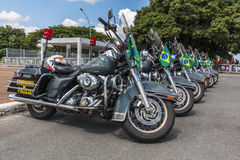 Harley-Davidson Police motorcycle - Brasília - DF - Brazil Stock Photos