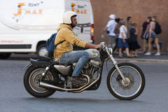 Harley Davidson-Radfahrerverschieben Stockfoto