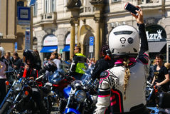 Harley Davidson Rally, Prague Stock Photos