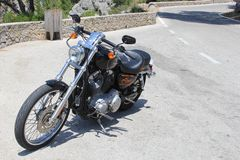 Harley Davidson motorcycle for rent, Spain Royalty Free Stock Photo